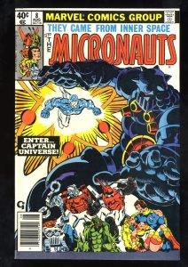 Micronauts #8 VF- 7.5 1st Captain Universe!