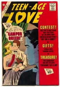 Teen-Age Love #24 1962-Charlton-campus queen cover-Police Raid story- VF