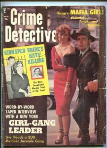 CRIME DETECTIVE-11/1959-MAFIA GIRL-TORSO SLAYING-POISON PEN-NINE LIVES G/VG