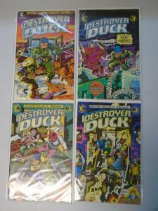 Destroyer Duck run #1-4 avg 8.0/VF (1982)