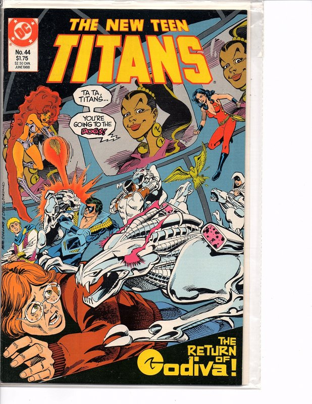 DC Comics New Teen Titans #44 Nightwing, Cyborg, Wonder Girl