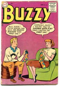 Buzzy #63 1955-DC-wacky cover-crazy stories-G/VG