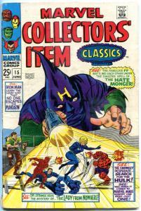 MARVEL COLLECTORS ITEM #15, VG+, Iron Man, Dr Strange, FF, 1965 1968, Silver age