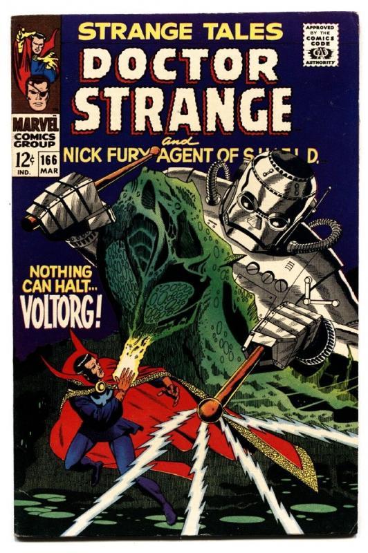 STRANGE TALES #166-comic book-DOCTOR STRANGE/NICK FURY-STERANKO VF
