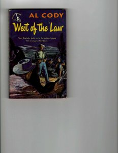 3 Books West of the Law Outlaws Three The Last Sunset Western Murder Mystery JK8