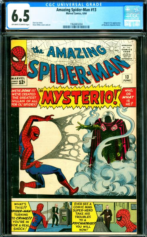 Amazing Spider-Man #13 CGC Graded 6.5 Mysterio Origin & 1st Appearance