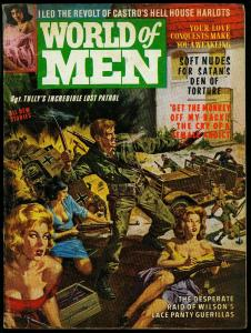 World of Men Pulp Magazine #2 March 1963- Norman Saunders art- FN-