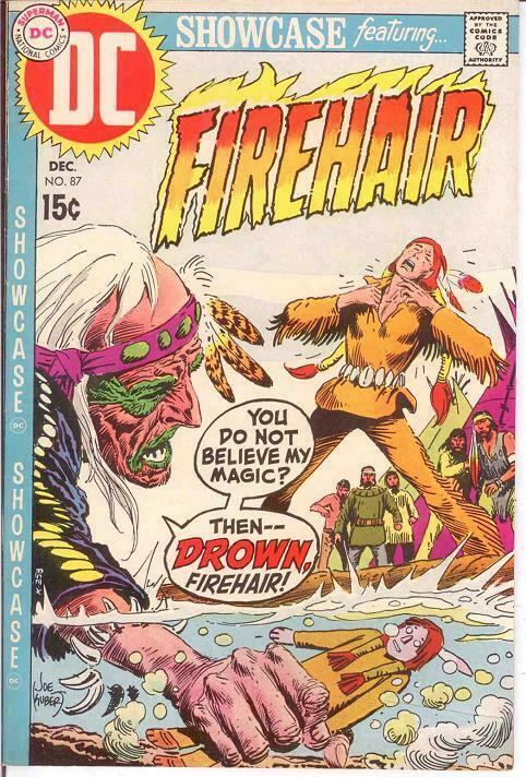 SHOWCASE 87 VF FIREHAIR BY KUBERT   December 1969 COMICS BOOK