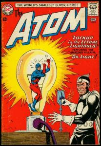 The Atom #8 1963- Dr Light cover- DC Silver Age- Gil Kane G/VG