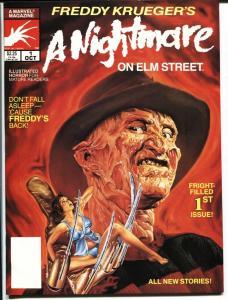 Freddy Krueger's A Nightmare on Elm Street #1 1989 Marvel Magazine NM-