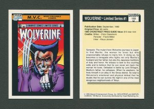 1990 Marvel Comics Card  #133 (Wolverine Limited #1 Cover) / MINT