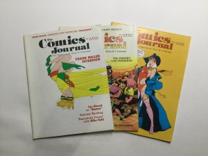 Comics Journal 101-103 Magazine Lot Fine Fn 6.0 Pacific Comics