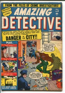 AMAZING DETECTIVE #6-1951-ATLAS-EYEBALL PANELS-JERRY ROBINSON-RASPUTIN-vg/fn