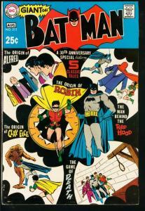 BATMAN #213-GIANT-ORIGIN ROBIN/ALFRED/JOKER/CLAY FACE VF-