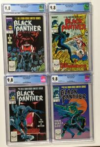 Black Panther 1-4 1 2 3 4 All Cgc 9.8 W/p 1988 Series Consecutive Serial #s