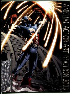 Annual Actor Art Auction 2003-Capt America-detailed info & pix-VF