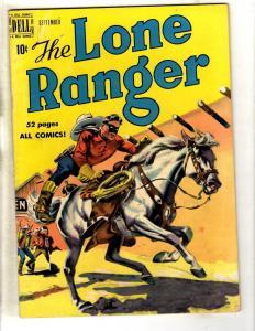 Lone Ranger # 27 FN 1950 Dell Golden Age Comic Book Western Cowboy Tonto JL8