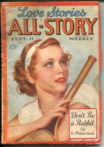 Love Stories All-Story 9/11/1937-all female pulp authors-pretty tennis player co