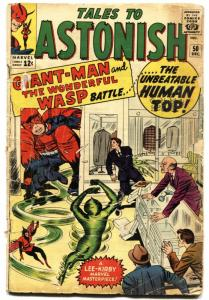 TALES TO ASTONISH #50 1963-MARVEL-WASP-GIANT-MAN-HUMAN TOP ORIGIN-DITKO-good