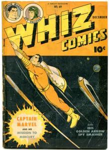 Whiz Comics #69 1945- Captain Marvel- Ibis- Spy Smasher- Golden Age G/VG