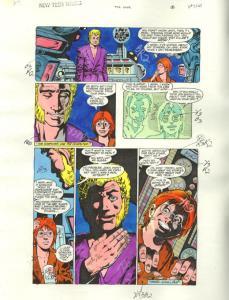 NEW TEEN TITANS #47-ORIGINAL D.C. PRODUCTION ART-PG 8 VG