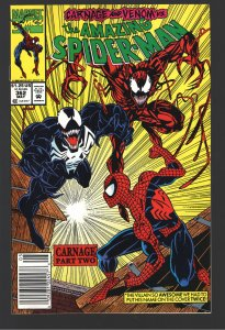 AMAZING SPIDERMAN 362 NM 9.9 NEWSSTAND!1st CARNAGE VENOM COVER;UNREAD.UNTOUCHED!