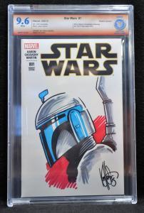 Star Wars #1 (Marvel, 2015) CBCS Sketch Cover 9.6