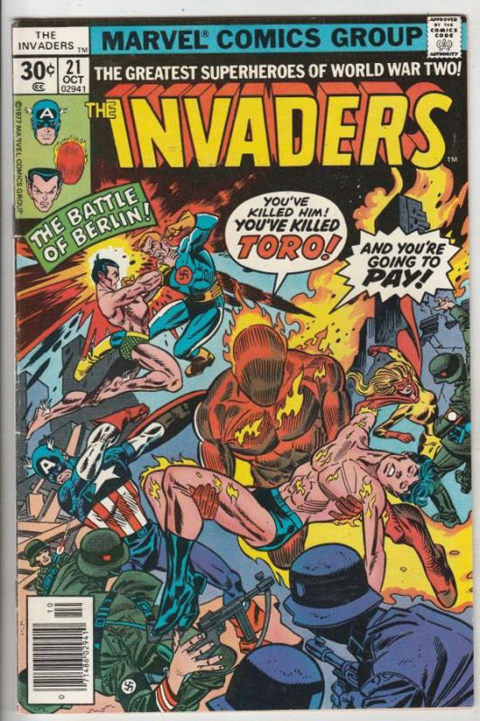 Invaders,The #21 (Oct-77) VF/NM High-Grade The Human Torch