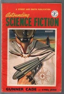 Astounding Science Fiction British Edition 8/1952-sci-fi pulp fiction-VG