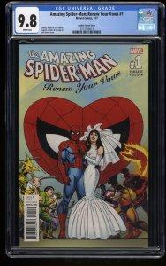Amazing Spider-Man: Renew Your Vows #1 CGC NM/M 9.8 John Romita Wedding Variant!