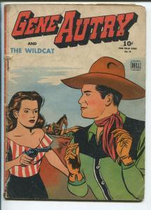 GENE AUTRY FOUR COLOR #75 1945-DELL-JESSE MARSH ART-THE WILDCAT-good+