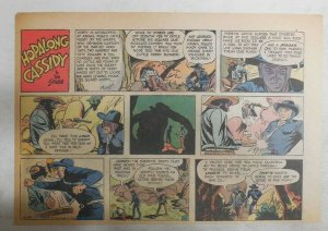 Hopalong Cassidy Sunday Page by Dan Spiegle from 4/26/1953 Size 7.5 x 10 inches