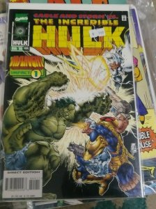INCREDIBLE HULK  # 444 1996 marvel X MEN  CABLE ONSLAUGHT PT 1