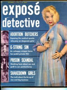 Expose Detective #4 9/1957-Skye-spicy gun moll-prison scandal-murder-VG