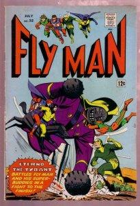 FLY MAN #32 1965- FLY GIRL-BLACK HOOD-SHIELD-COMET-MLJ FN