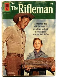 Rifleman #10 1962 CHUCK CONNORS wood cover! comic book-JOHNNY CRAWFORD TV