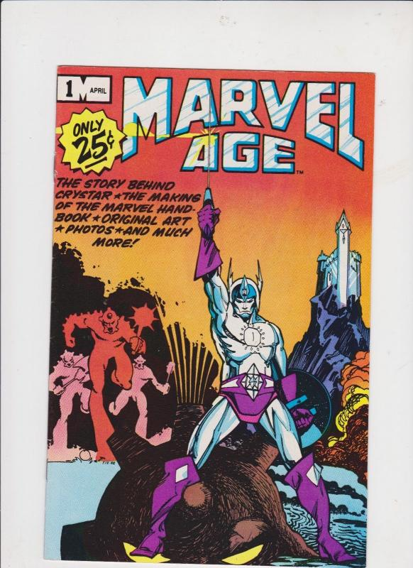 MARVEL AGE VOL. #1--#1 /1982 / STORY BEHIND CRYSTAR