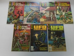 Bronze age UFO comic lot 13 different issues (1968-80 Whitman + Gold Key)