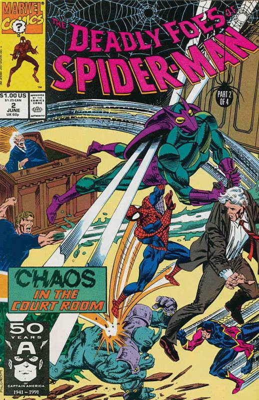 Deadly Foes of Spider-Man #2 VF/NM; Marvel | save on shipping - details inside