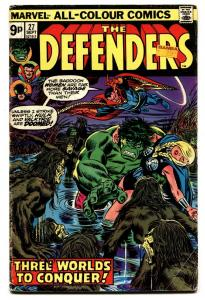 THE DEFENDERS #27-HULK-DR. Strange-Comic Book-Rare PENCE VARIANT