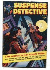SUSPENSE DETECTIVE #2 1952-FAWCETT-GEORGE EVANS-VG-