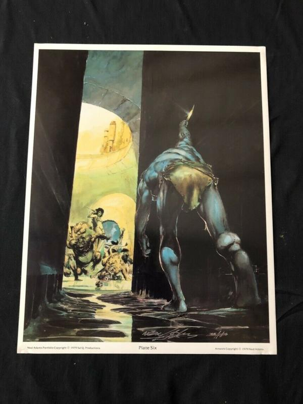 Neal Adams signed Tarzan Print Plate Six with COA