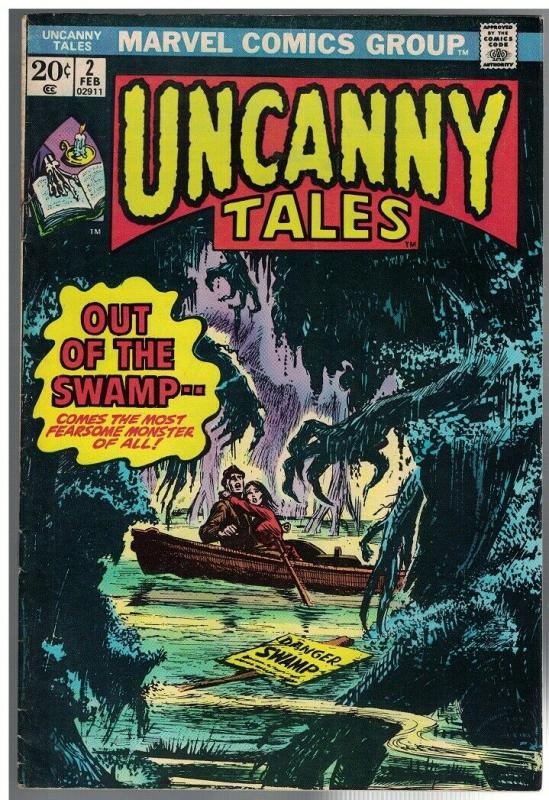 UNCANNY TALES 2 VG+   Feb. 1974