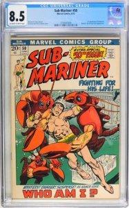 Sub-Mariner #50 (1972) CGC Graded 8.5
