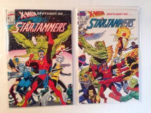 X-men Spotlight On Starjammers 1-2 Complete Near Mint Lot Set Run