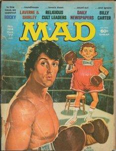 ORIGINAL Vintage Oct 1977 Mad Magazine #194 Rocky Laverne + Shirley