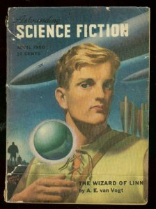 ASTOUNDING SCIENCE-FICTION APR 1950-L RON HUBBARD-PULP-good G