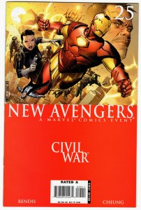NEW AVENGERS #25 (VF) Civil War 1¢ auction! No Reserve!