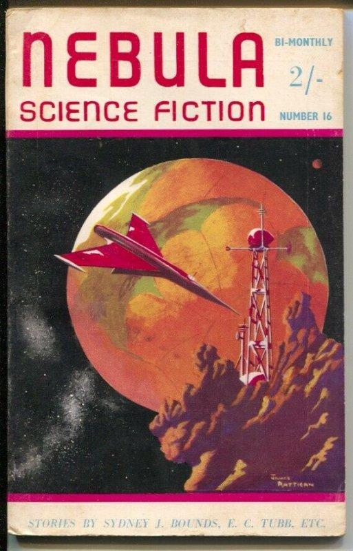 Nebula Science Fiction #16 3/1956-Munro-Robert Silverberg-Furry Ackerman-VG+