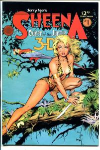 Sheena Queen of The Jungle 3-D #1 1985-Blackthorn-Dave Stevens-1st issue-FN